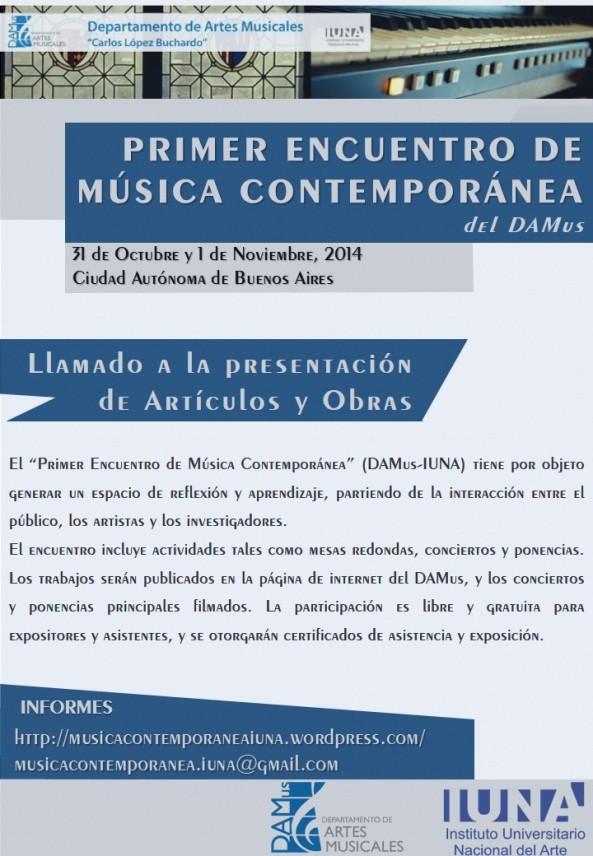 Encuentro Música Contemporánea DAMus