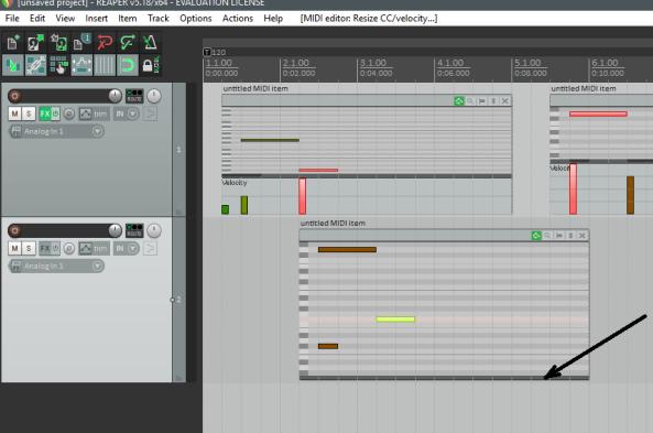 MIDI_Key Editor en Pantalla Principal-Ver velocity, etc