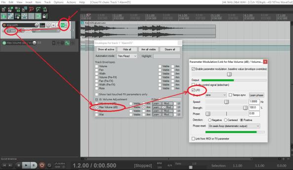 Modulación FX desde Track
